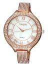 YAQIN délicat brillant strass incorporé Bracelet Style montre romain simples chiffres cadran luxe élégant montre-bracelet pour OL femme fille