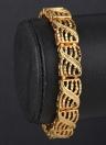 Personalidad Punk Rock estilo 18K oro enlace Metal plateado mano cadena pulsera joyería para mujeres niñas