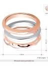 ROXI 3Pcs mode bague lisse empilables du plaqué-or Rose/blanc femmes mariée mariage fiançailles bijoux accessoire cadeau