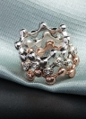 ROXI 3Pcs cristal austríaco empilhável banda onda anel mulheres noiva casamento noivado amor jóia acessório de moda