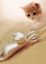 Cute Kitty Pendant for Necklace Keyring Bracelet Hand Chain
