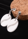 S925 Silver Round Nano Ceramic Zircon Earrings