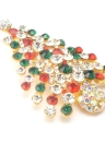 Shining Rhinestone Crystal Christmas Brooch for Scarf Buckle