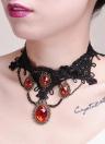 Moda encanto único punk gótico del cordón Gargantilla Accesorios ancha joyería de la cadena del collar para las mujeres del regalo del partido de las muchachas