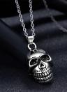 Colar do pendente do crânio do aço inoxidável romad de forma original encanto Hot Punk metal cadeia de jóias para a Band presente unisex do partido Mulheres Homem menina