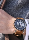 Men's Skeleton Waterproof Calendar Quartz Watch