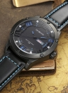 Men's Waterproof Quartz Watches With Leather Straps