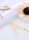 Fashion 26 Letters Pendants 316L Stainless Steel Titanium Necklace