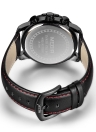 MEGIR Luxury Luminous Quartz Military Style Chronograph relógio de pele resistente a água de couro genuíno