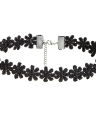 Sexy Multilayer Black Lace Velvet Choker Pendant Necklace