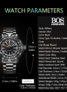 ANGELA BOS Multifunction Compass Army Military Men Watch