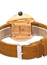 REDEAR 2017 de lujo de madera de oliva de cuarzo de cuero genuino mujeres reloj de pulsera