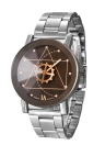 WeLuxury Fashion Quartz Analog Gear Dial Pointer Unisex Watch para amantes