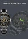 IK COLORING Reloj mecánico automático de los hombres luminosos de lujo