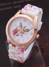 Reloj de lujo de las mujeres del cuarzo del oro de Rose de la manera