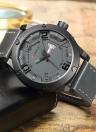 CURREN 2017 Luxuey PU Leather Quartz Men Watch