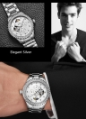 TEVISE Brand Luxury Luminous Skeleton Automatic Mechanical Men Watch