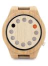 BOBOBIRD Montre occasionnelle en bambou de montre unisexe de mode