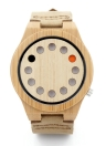 BOBOBIRD Fashion Casual Bamboo Watch Reloj de cuarzo unisex
