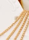 Moda multistrato collana di perle catenina catena maglione catena donne temperamento gioielli