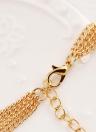 Collar de perlas de múltiples capas de moda Cadena de clavícula cadena de suéter de las mujeres Temperamento joyería
