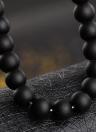 Pulsera helada de piedra natural de la moda pulsera elástica Cabeza de leopardo cristal incrustado