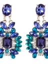 Pendientes de aleación de diamantes de cristal de moda de lujo pendientes de estilo étnico para mujeres joyería