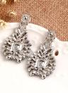 Moda de Luxo Diamante Brincos de Cristal Da Orelha Liga Estilo Étnico para As Mulheres de Jóias