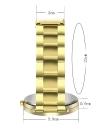 Relógio de pulso de senhoras de aço inoxidável do relógio de quartzo das senhoras do projeto de forma das mulheres Relógio de pulso de ouro fêmeas luxuosos do relógio de pulso das mulheres