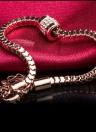 ROXI Elegant White Gold Plated CZ Diamond Bead Bracelet Bangle