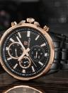 NAVIFORCE Moda de lujo de acero inoxidable de cuarzo luminoso resistente al agua hombres reloj