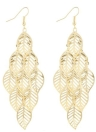 Euramerican Style Fashion Multilayer Hollow Design Gold Plated Folhas Brincos