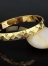 Pulsera plateada oro brillante del brazalete de la manera Accesorio nupcial de la joyería del Todo-fósforo