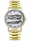 Luxus Armbänder Mode Frauen Männer Uhr Einfache Goldene Edelstahlarmband Armband Analog Quarz Armbanduhr Relogio Feminino