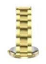 Pulseiras de luxo Moda Feminina Homens Relógio Simples de Ouro Pulseira de Aço Inoxidável Pulseira de Pulso de Quartzo Analógico Relógio Relogio feminino