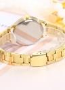 Mode Diamant Uhr Nummer Skala Herz Quarzuhr Legierung Band für Frauen Dekoration