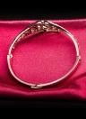 ROXI moda exquisita flor hueco brazalete oro rosa plateado joyería fina fiesta boda de niña mujer
