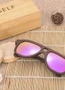 Anself de moda deportiva de madera de bambú de madera al aire libre de la bicicleta de ciclo de los vidrios UV400 gafas de sol polarizadas unisex
