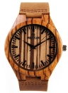 Resistente de alta calidad reloj analógico Redear hombre de madera natural de cuarzo reloj de pulsera de agua diario para aniversario de boda