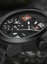 NAVIFORCE 2016 marca de moda de doble zona horaria del cuero genuino cuarzo Hombre Relojes 30M a prueba de agua Militar Deportes ocasionales de los hombres del reloj de la caja de reloj del calendario +