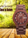 SKONE New Luminous Natural Wood Quartz Analog Vintage Man Watch
