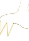 Mode 26 Buchstaben Anhänger 316L Edelstahl Titan Halskette