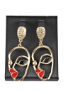 Fashion Funny Human Face Palm Drop Earrings Stylish Hollow Metal Punk Dangle Earrings