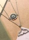Mode Persönlichkeit Vintage Multi-Layer Chokerkragen Schmuck Lange Anhänger Halsketten Zubehör für Frauen und Mädchen mit Zink-Legierung