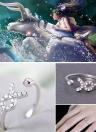 925 argent Sterling 12 étoiles signes Horoscope Constellation du zodiaque en forme de cadeau bijoux bague ouverte pour le mariage de Lady amateurs hommes femmes filles de mode