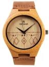 Redear Único de bambu natural de pulso diário Water Resistant Simplicidade na moda Man relógio para aniversário de casamento