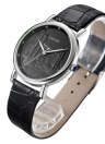 Longbo Genuine Leather Strap London Bridge Anaglyphy Gold Couple Quartz Watch