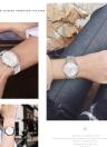 PAPHITAK Moda de dos manos de alta calidad de negocios de cuarzo reloj de pulsera unisex