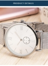 PAPHITAK Moda Duas mãos de alta qualidade Business Quartz Unisex Wrist Watch