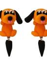 Desenhos animados de moda Bonitos brincos para cães de estimação feitos à mão Clay Ladies Personalized Brincos Jóias